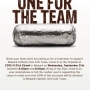 Chipotle Fundraier for NCAA Girls Golf ~ Sept