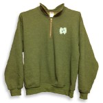1/4 zip Green Cadet Fleece