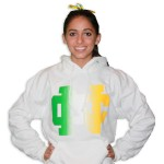 White Multi-Colored NC Hoodie