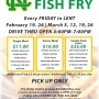 NCAA Fish Fry - Every Friday during Lent