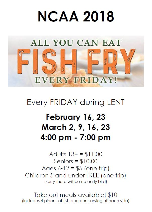 Lenten all you can eat fish fry newark catholic high school for All you can eat fish