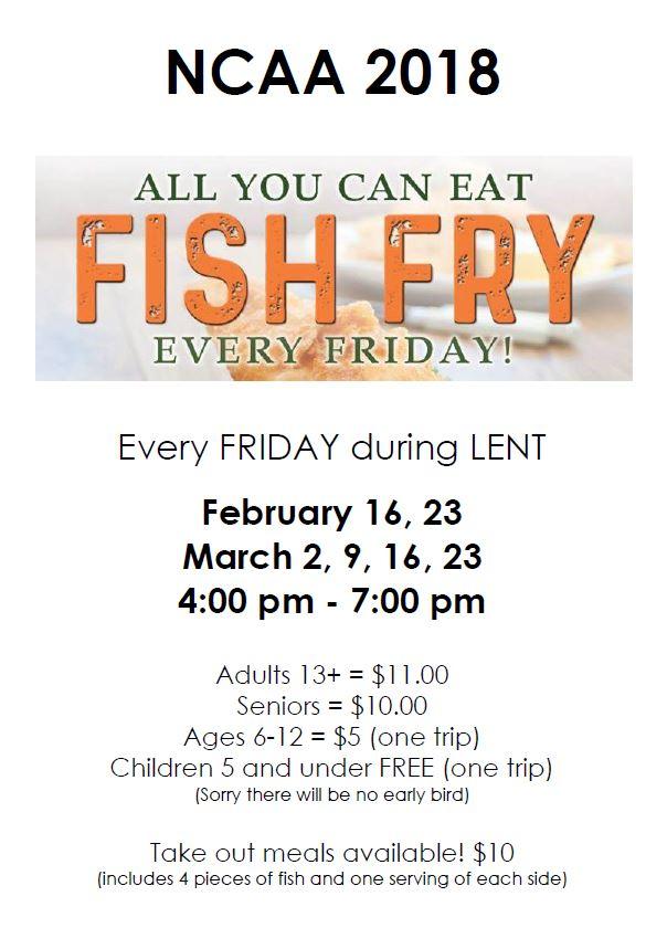Lenten all you can eat fish fry newark catholic high school for All you can eat fish fry