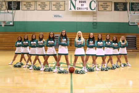 2017-2018 Varsity Basketball Cheerleadin