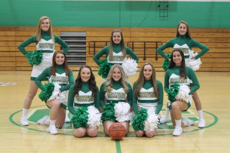 2018-2019 Varsity Basketball Cheerleadin
